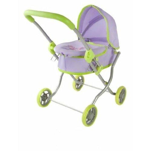 Купить Коляска-люлька Mary Poppins Бабочки 67271 фиолетовый/зеленый, Коляски для кукол