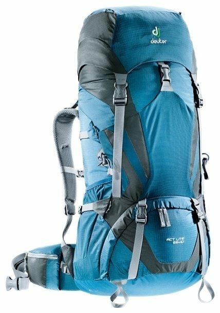 Рюкзак deuter ACT Lite 65+10 blue/grey (arctic/granite)