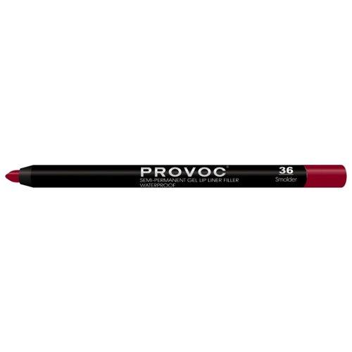 Provoc Гелевая подводка в карандаше для губ Semi-Permanent Gel Lip Liner 36 smolderКонтур для губ<br>