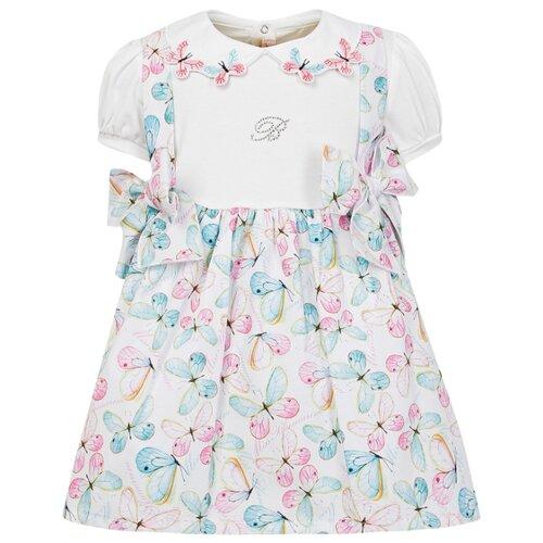 Платье Blumarine размер 86, белый/голубой/розовый