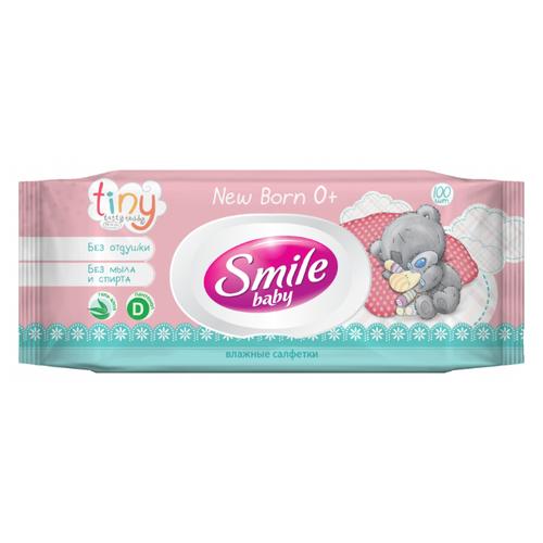 Влажные салфетки Smile Me To You New born 0+ Tiny 100 шт.