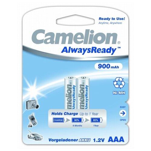 Фото - Аккумулятор Ni-Mh 900 мА·ч Camelion Always Ready AAA 2 шт блистер аккумулятор smartbuy sbbr 3a02bl950 aaa 2 шт