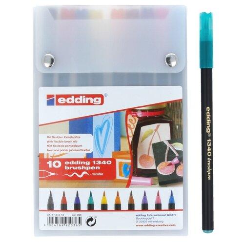 Edding Фломастеры 10 шт. (1340) разноцветные edding фломастеры 15 funtastics 1 мм 12 шт разноцветные