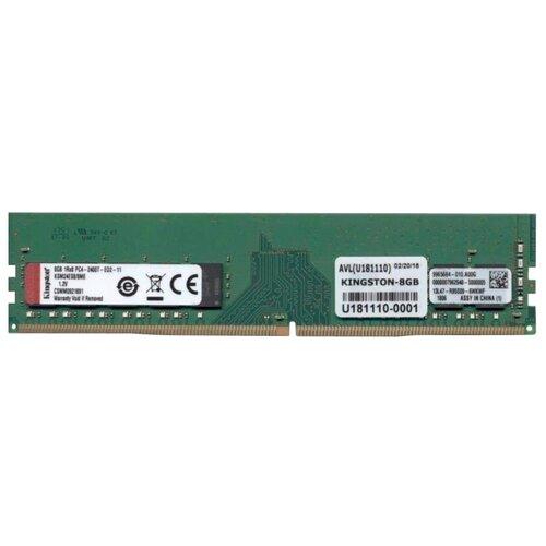 Оперативная память Kingston ValueRAM DDR4 2400 (PC 19200) DIMM 288 pin, 8 GB 1 шт. 1.2 В, CL 17, KSM24ES8/8ME оперативная память kingston valueram ddr4 2400 pc 19200 sodimm 260 pin 8 гб 1 шт 1 2 в cl 17 kvr24s17s8 8