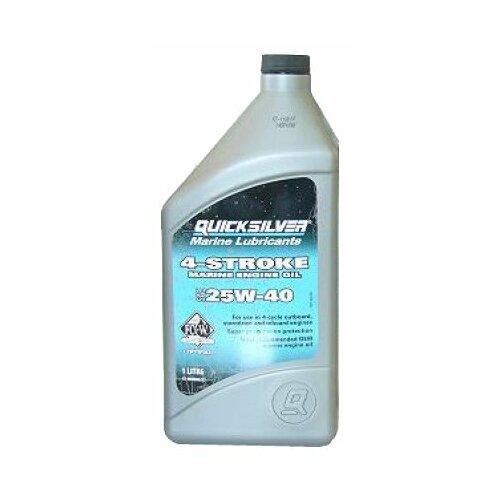 Полусинтетическое моторное масло Quicksilver 4-Stroke Marine 25W-40 1 л недорого