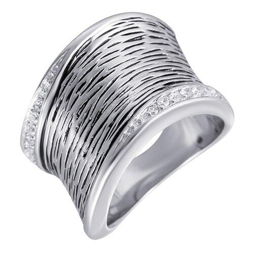 ELEMENT47 Широкое ювелирное кольцо из серебра 925 пробы с кубическим цирконием 05S2AZR277906CURI_KO_003_WG, размер 17.5- преимущества, отзывы, как заказать товар за 5304 руб. Бренд ELEMENT47