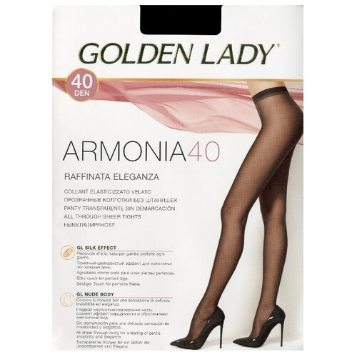 Колготки Golden Lady Armonia 40 den, размер 4-L, daino (бежевый) колготки golden lady bodyform 20 den размер 4 l daino бежевый
