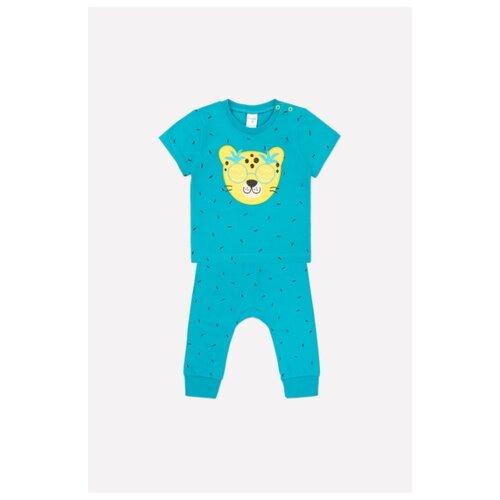 Купить Комплект одежды crockid размер 74, бирюзовый/изумрудный, Комплекты