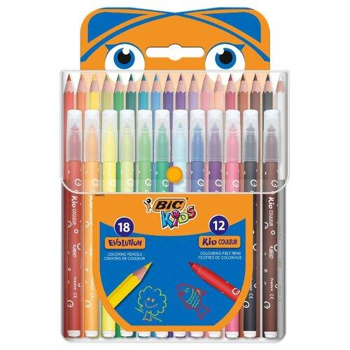Купить BIC Kids набор для творчества 30 предметов (964827), Наборы для рисования