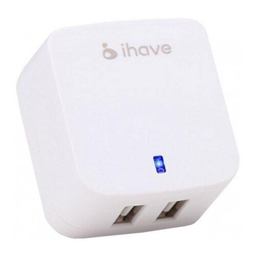 Сетевая зарядка iHave Tank id0103 2 USB белый