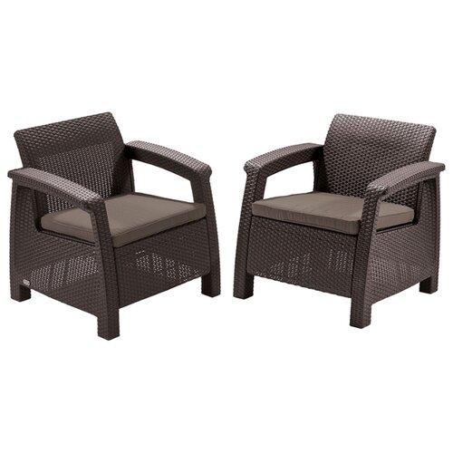 Комплект мебели KETER Corfu Duo Set (2 кресла), коричневый