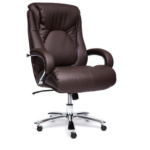 цена на Компьютерное кресло TetChair Max для руководителя, обивка: натуральная кожа, цвет: коричневый