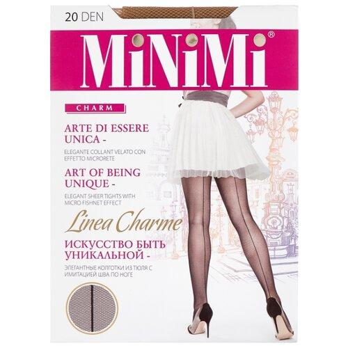 Колготки MiNiMi Linea Charme 20 den, размер 3-M, daino (бежевый) колготки minimi tulle magico 20 den размер 3 m daino бежевый