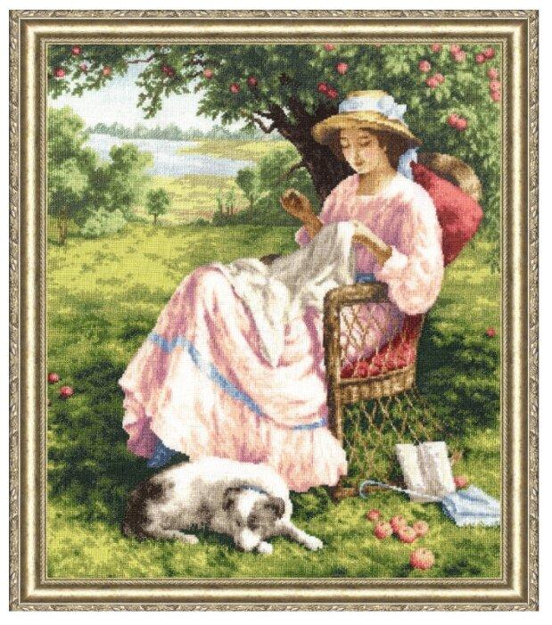 Золотое Руно Набор для вышивания Яблоневый сад 45 х 37,5 см (ЧМ-017)
