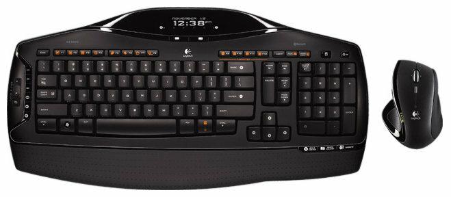 Клавиатура и мышь Logitech Cordless Desktop MX 5500 Revolution Black USB