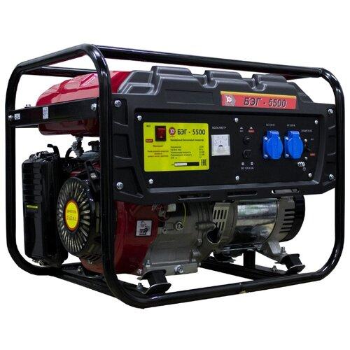 Бензиновый генератор КАЛИБР БЭГ-5500 (5000 Вт) бензиновый генератор dde g550e 5000 вт