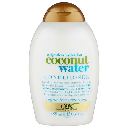 OGX кондиционер Weightless Hydration+ Coconut Water, 385 мл