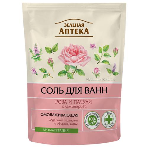 Зелёная Аптека Соль для ванн Роза и пачули, 500 г