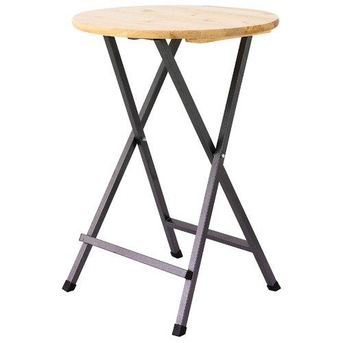 Стол сервировочный садовый ФОТОН Адлер, древесный/черный