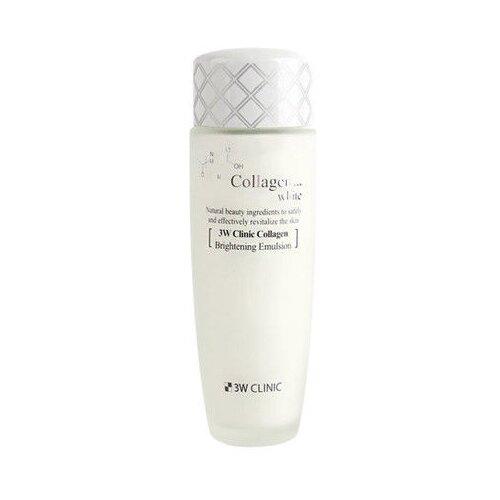 3W Clinic Collagen White Brightening Emulsion Эмульсия для лица, 150 мл сыворотка для век антивозрастной с плацентой 3w clinic premium placenta brightening day eye serum 50 мл