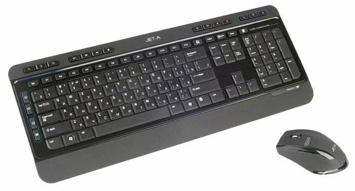 Клавиатура и мышь Jet.A SlimLine KM5 W Black USB