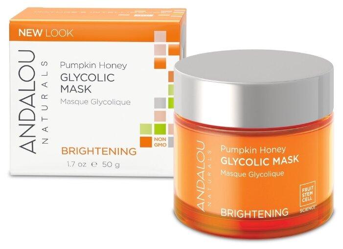 Andalou Naturals Brightening Pumpkin Honey Glycolic Mask Гликолевая маска Тыква и мёд манука