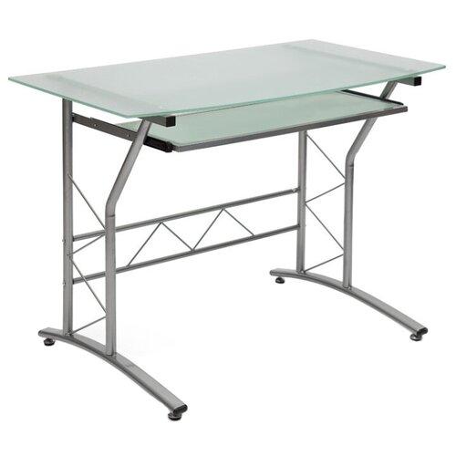Компьютерный стол TetChair ST-F1018, 100х60 см, цвет: серый каркас/стекло матовое