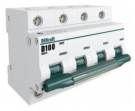 Автоматический выключатель DEKraft ВА-201 4P (D) 10kA