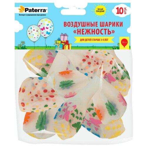 Набор воздушных шаров Paterra Нежность (10 шт.) прозрачные с рисунком