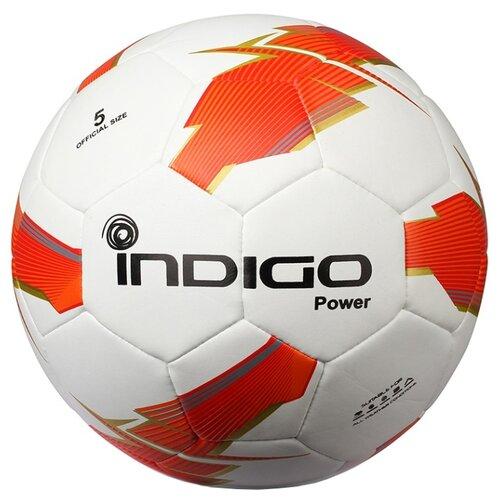 Футбольный мяч Indigo POWER Z02 белый/оранжевый 5Мячи<br>