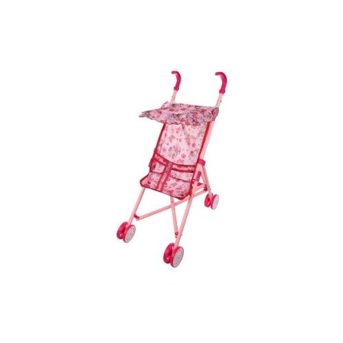 Купить Прогулочная коляска Наша игрушка Вальс 67253-2 розовый, Коляски для кукол