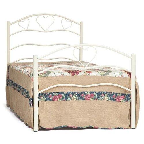 Кровать TetChair ROXIE односпальная, размер (ДхШ): 207х93.5 см, спальное место (ДхШ): 200х90 см, каркас: металл, цвет: белый