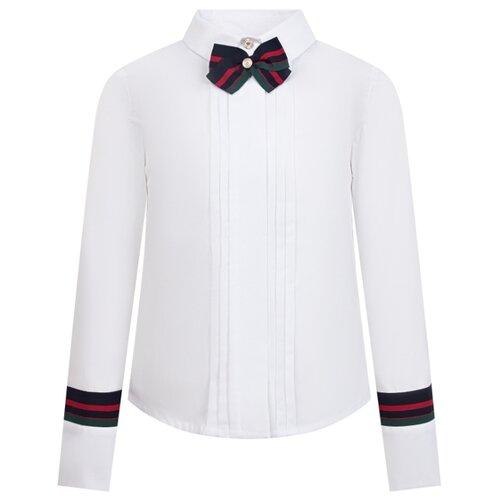 Блузка Lapin House размер 140, белый по цене 9 840
