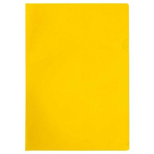 Купить OfficeSpace Папка-уголок A4, пластик 100 мкм желтый, Файлы и папки