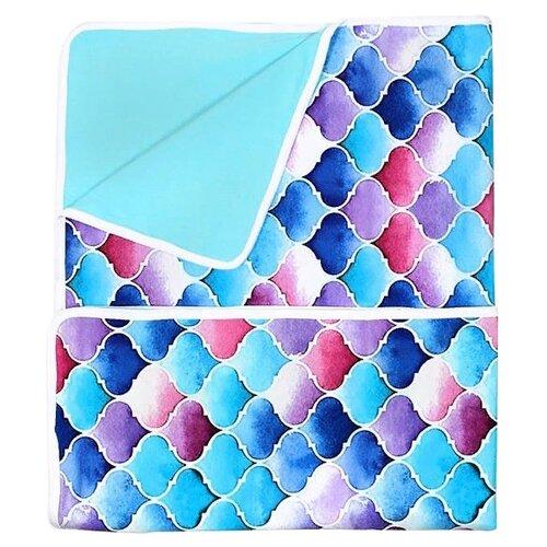 Купить Плед GlorYes! Фонарики 85х96 см голубой/фиолетовый, Покрывала, подушки, одеяла