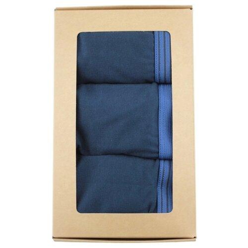 Фото - IDILIO Набор трусов боксеры с профилированным гульфиком, 3 шт., размер 2XL(52), синий obsessive набор трусов lacea shorties