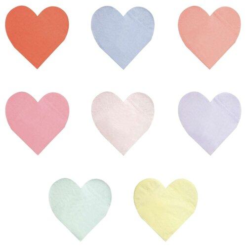 Салфетки пастельные в форме сердца Палитра, большие Meri Meri стаканы пастельные высокие meri meri