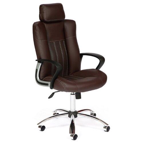Компьютерное кресло TetChair Оксфорд, обивка: искусственная кожа, цвет: темно-коричневый компьютерное кресло tetchair барон обивка искусственная кожа цвет бежевый