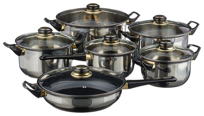Набор посуды MAYER & BOCH 6077 12 пр. металлик
