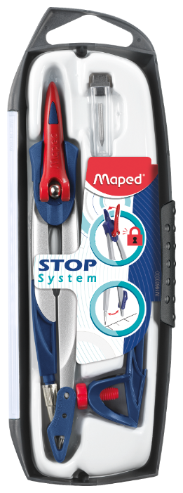 Maped Готовальня Stop System 3 предмета (196100)
