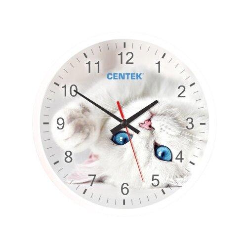 Часы настенные кварцевые CENTEK CT-7104 cat