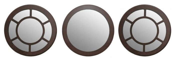 Зеркало Мастер Рио Набор №3 Венге 28х28 в раме