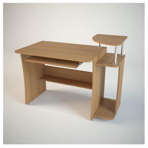 Компьютерный стол Комфортная мебель КС6, ШхГ: 113х60 см, цвет: ольха