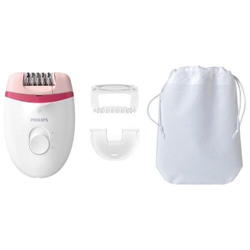 Эпилятор Philips BRE255 Satinelle Essential белый/розовый