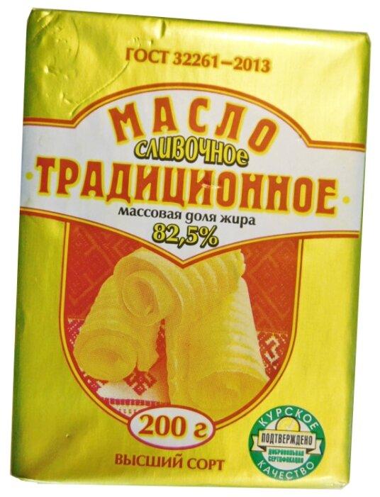 Курскмаслопром Масло сливочное Традиционное 82.5%, 200 г