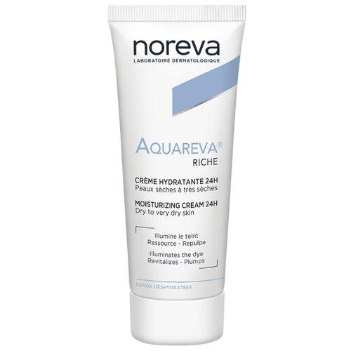 Фото - Noreva laboratories Aquareva Riche Moisturizing Cream 24H Крем для лица Насыщенный увлажняющий 24 часа, 40 мл noreva акварева увлажняющий скраб 75 мл noreva aquareva