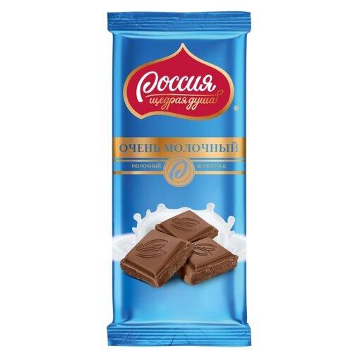 шоколад россия щедрая душа молочный белый пористый 82 г Шоколад Россия - Щедрая душа! Очень молочный, 90 г