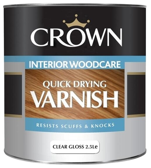 Лак Crown Quick Drying Varnish полуматовый (2.5 л) акрил-уретановый