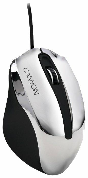 Мышь Canyon CNL-CMSO01 Chrome-Black USB