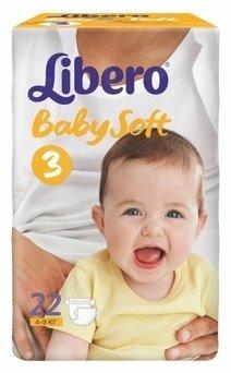 Libero подгузники Baby Soft 3 (4-9 кг) 22 шт.